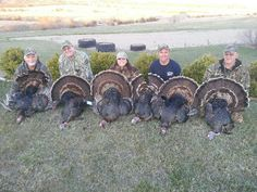 Girl Power heaviest turkey of all the hunters by me~ Tracy.  taken in Nebraska with Doug Borries Of Dynamic Outdoors at the Comstock premier Lodge. Doug finished up his Double World Slam with these two Merriam turkeys
