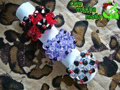 Con mucha maña • Creación y diseño de abalorios•: Anillos 6 flores Visita mi pagina en facebook y dale a me gusta: https://www.facebook.com/creacionesconmuchamana?ref=ts&fref=ts
