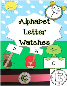 http://www.teacherspayteachers.com/Product/ABC-Letter-Watches-1374243  A watch face with every letter of the alphabet! Great for introducing letters and using in literacy centers!
