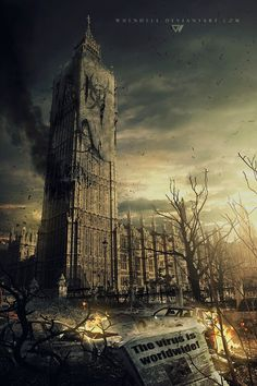 Ideas for concept art future city post apocalyptic Post Apocalypse, Apocalypse Aesthetic, Apocalypse World, Apocalypse Survival, Fantasy World, Dark Fantasy, Fantasy Art, Zombies, Apocalypse Landscape