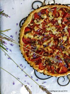*blumige* Tomatentarte mit Kräuter der Provence