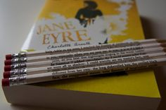 Jane Eyre Wrapped Pencil Set by bouncingballcreation on Etsy https://www.etsy.com/listing/75230501/jane-eyre-wrapped-pencil-set