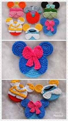 Disney Crochet Patterns, Crochet Disney, Knitting Patterns, Crochet Gifts, Crochet Toys, Free Crochet, Crochet Christmas Decorations, Applique Patterns, Crochet Stitches