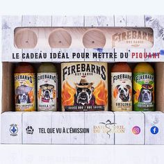 L'ensemble de sauce Firebarns parfait à offrir en cadeau Tequila, Chipotle, Scotch, Parfait, Sauces, Lime, Hot Sauce, Gift, Plaid