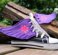 My Little Pony Twilight Sparkle  Embroidered Shoe by MTthreadz, $10.00