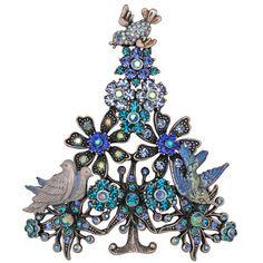 Kirks Folly I'll Have A Blue Christmas Tree Pin Peace Dove