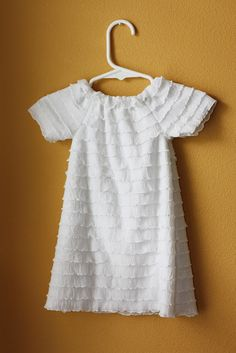 Ruffled baby peasant dress tutorial and pattern...use as blessing dress?