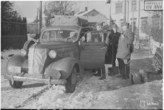 Retkikunta lähdössä Savonlinnasta. (1941-10-25 SA-kuva) Finland, Car, Automobile, Cars