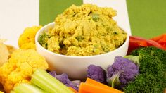 Roasted Curry Cauliflower Dip - Recipes - Best Recipes Ever - Roasting the cauliflower brings out a depth of flavour in this gorgeous dip. Serve this hint-of-curry spread with pappadams or crudités. Gf Recipes, Vegetable Recipes, Indian Food Recipes, Fast Recipes, Veggie Food, Delicious Recipes, Healthy Recipes, Cauliflower Dip Recipe, Recipes