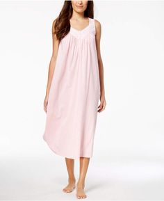 Charter Club Long Lace-Trim Nightgown 1b6830514