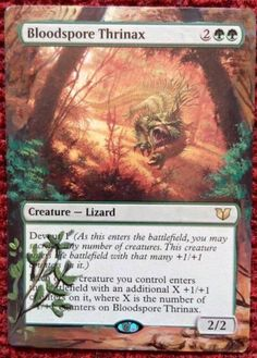 Handpainted Bloodspore Thrinax - Altered ArtDevour it...
