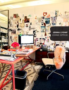 love the pale pink desk!  Check It Out: Habitually Chic: Creativity at Work - Celebrity Style and Fashion from WhoWhatWear