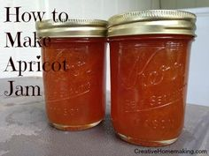Easy recipe for making homemade apricot jam.