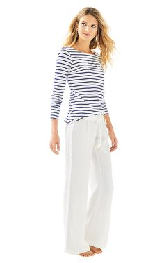2f41be31ab Beach Pant With Lace. Beach SessionsBeach PantsPrinted PantsPalazzo PantsLilly  PulitzerPants ...