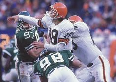 """Bernie Kosar believes he was replaced because of his slurred speech, a """"problem"""" he thinks stems from concussions suffered during his playing days. Cleveland Browns History, Cleveland Ohio, Cleveland Rocks, Bernie Kosar, Rest, Browns Fans, Vince Lombardi, Football Conference, Professional Football"""