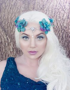 Hey, I found this really awesome Etsy listing at https://www.etsy.com/listing/246908885/teal-elven-crown-with-silver-or-gold