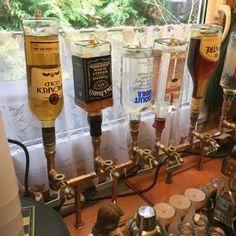 Items similar to The Server - Single Bottle Liquor Dispenser on Etsy Easy Fill, Make It Simple, Liquor Dispenser, Liqueur, Assemblage, Handmade Copper, Pure Copper, Bars For Home, Steam Punk