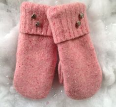 Women's Medium Felted Wool Mittens Made from Recycled by SewforYou, $25.00