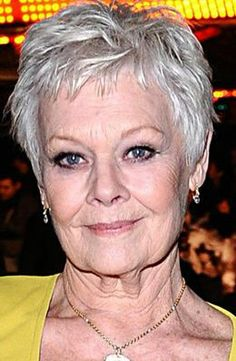 Judi Dench -- still pretty, wrinkles and all