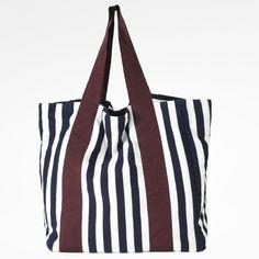 Borsa Diotima shopping bag in cotone e gros colore: bianco/rosso