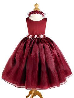 lauren burgundy flower girl dress