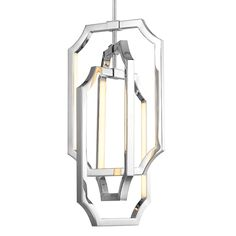 "Master Bath Pendant. Qty:2. F2954/6PN, 6-Light Audrie Chandelier, Polished Nickel. 10 1/8""W x 26""H"