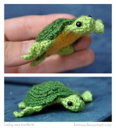 BABY SEA TURTLE: I wish, I wish, I wish there was a pattern for this!