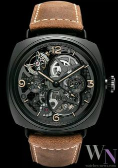 Radiomir Panerai Tourbillon: 1. Tourbillon Gravity can throw a watch out of synch. The tourbillon, an 18th century invention, spins and rotates to counteract gravity's pull. 2. Ceramic Not only is a ceramic watchcase lighter, harder and more scratch resistant than a steel case, it also looks tough. 3. Jewels Sapphires and rubies are placed at key points to reduce friction. The standard for fine watches is 17 gems; this watch has 31.