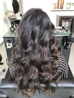 Dark hair balayage  Sunkissed hair