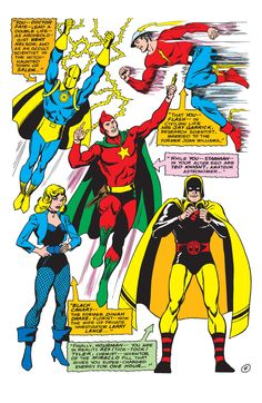 Justice Society of America, crossover, Murphy Anderson, 1960s, DC Comics, Silver Age, Justice League of America, pin up