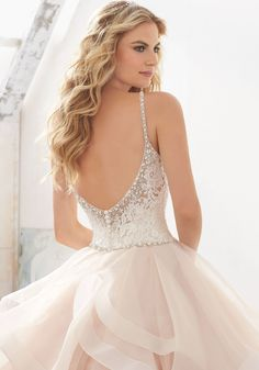 2017 Wedding Dresses and Bridal Gowns by Morilee by Madeline Gardner. This Lace and Organza Ballgown Bridal Dress is accented with Crystal Beaded Straps.