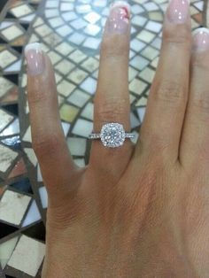 DREAM RING! Cushion cut halo
