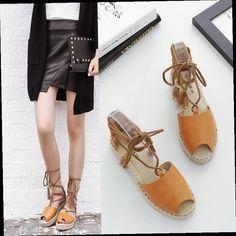 47.00$  Watch now - http://aliifb.worldwells.pw/go.php?t=32787511405 - 2017 Women Tassel Loafers Espadrilles Slip On Slipony Gladiator Flats Platform Shoes Lace Up Brand Designer Canvas Espadrilles