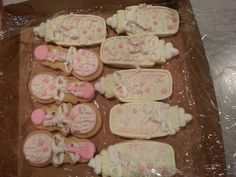 Mrs. Piggy did a great job with these cookies. They were for a baby shower for my grandbaby Lily