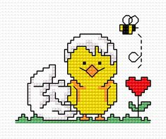Easter chick (religious feastes, chick, easter eggs, Easter, heart, bee, insect)