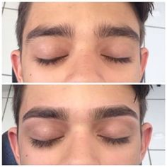 o formato natural da sobrancelha. Os homens devem apenas tirar os excessos. Assim mantem o formato masculino, ou seja, o correto é limpar o entorno dos olhos, mas não mexer na estrutura.