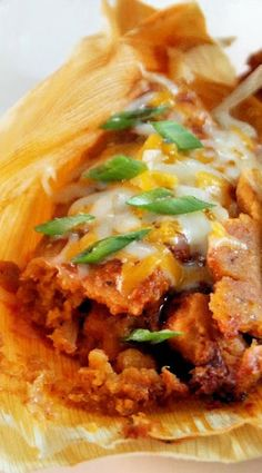 Spicy Chicken Tamales! So delicious! One of our favorite tamale recipes here at www.pasturaslosalazanestx.com