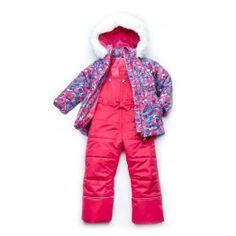 Зимний детский костюм-комбинезон из мембранной ткани для девочки 92 р.