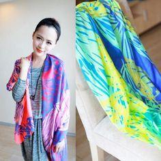 Multicolour ultra long neon color scarf £12.50 each