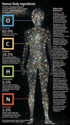 La composición química del cuerpo humano