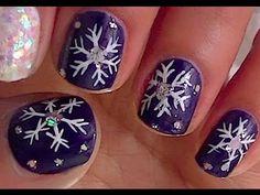 Snow Flake Nail Art