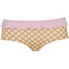 Designer Clothes, Shoes & Bags for Women Boy Shorts, Gym Shorts Womens, Underwear, Ice Cream, Lingerie, Shoe Bag, Briefs, Polyvore, Cute