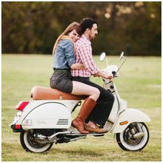 Couple on scooter - Stacy Reeves
