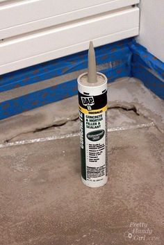 How to Patch and Level a Concrete Subfloor - Pretty Handy Girl Concrete Floor Leveling, Bathroom Concrete Floor, Concrete Basement Floors, Concrete Sheds, Concrete Garages, Basement Remodel Diy, Basement Remodeling, Basement Makeover, Basement Ideas