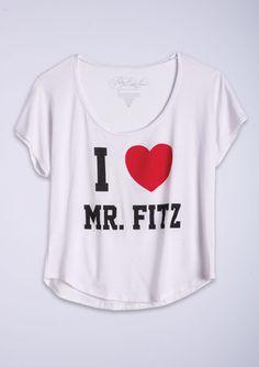 Me + Mr. Fitz = LOVE - PLL shirt $24.50