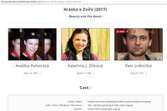 Kateřina Jindrová Zítková - zpěvačka - Kráska a zvíře - www.jindrovka.cz Beauty And The Beast, Singing, It Cast