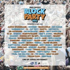Diplo's Mad Decent Block Party 2015 Lineup Poster - Imgur