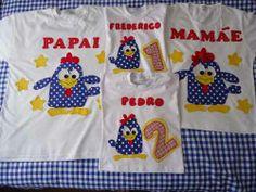 Camiseta Galinha Pintadinha Família
