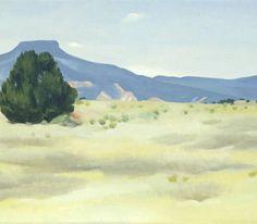 Ghost Ranch Landscape, Georgia O'Keeffe, 1936, oil on canvas.