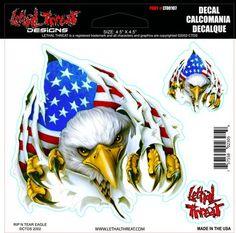 Rip n Tear Eagle lt00107 Lethal Threat Decal
